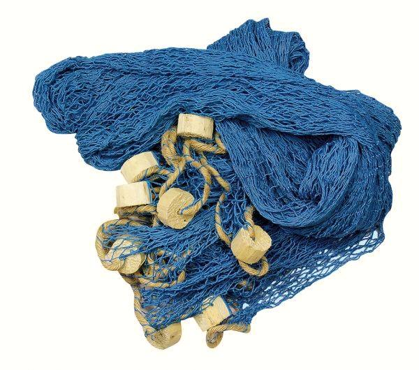 deko fischernetz xxl blau mit deko bojen ca 11 5 m maritime deko online bei. Black Bedroom Furniture Sets. Home Design Ideas