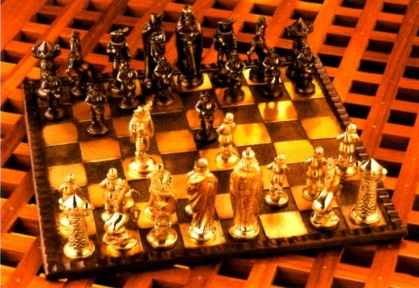 Schachspiel 34 x 34 cm