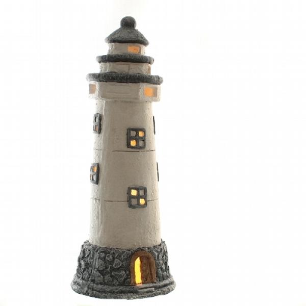 Windlicht-Leuchtturm ca. 20 x 50 cm