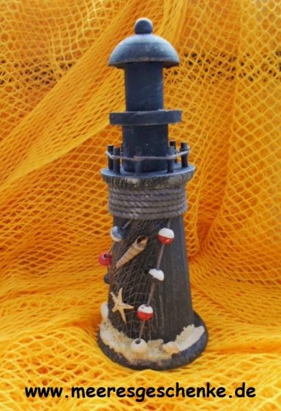 Deko-Leuchtturm ca. 19 cm schwarz