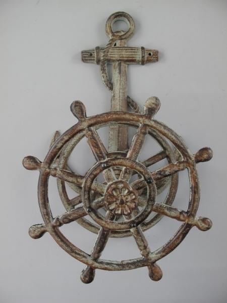 Nostalgischer maritimer Schlauchhalter ca. 50 x 30 x 17 cm grau