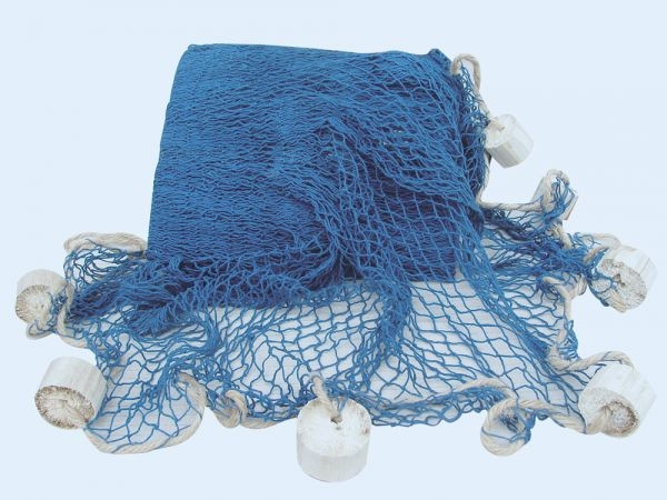 Deko Fischernetz blau mit Deko-Bojen 6,25 m²