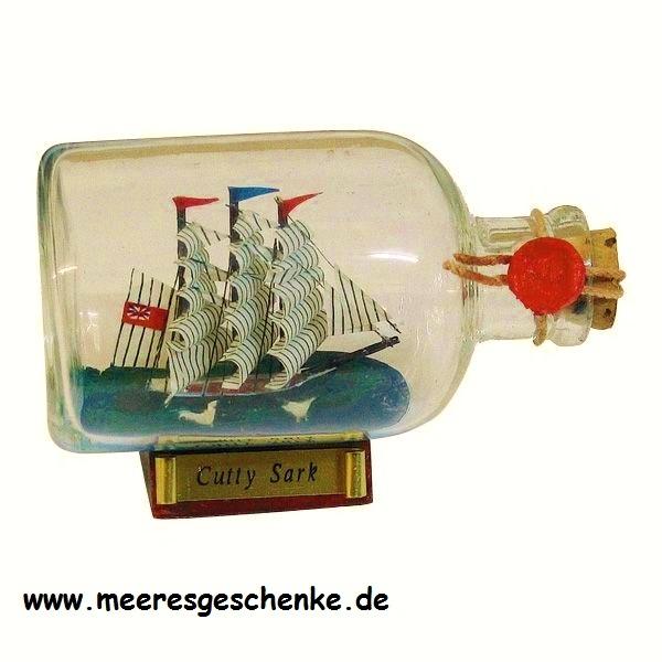 Flaschenschiff / Buddelschiff Cutty Sark ca. 9 x 6 cm