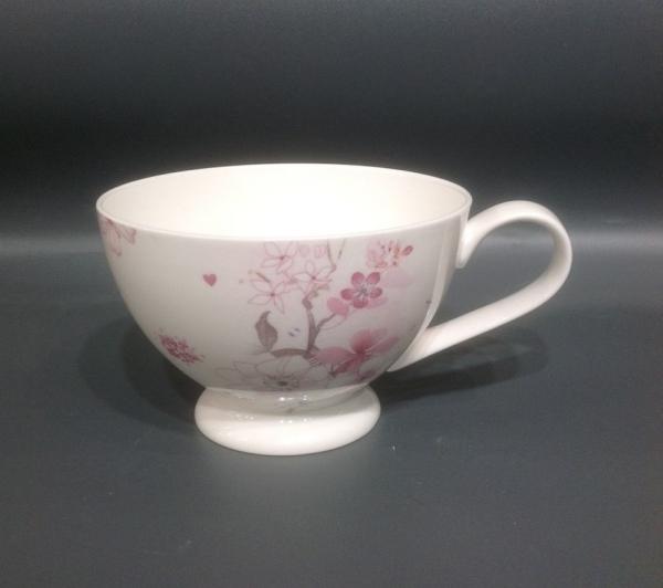 Diamantporzellan Jameson & Tailor Milchkaffeetasse Dekor Teeblüten