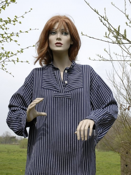 Fischerhemd Finkenwerder grobes Muster Gr. XL-3XL 3XL