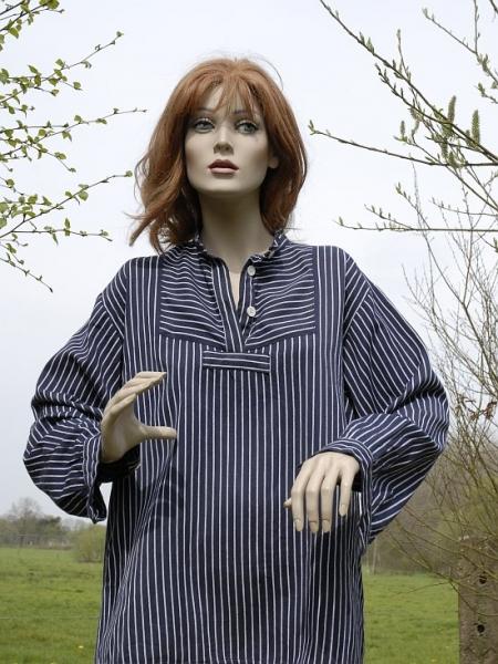 Fischerhemd Finkenwerder feines Muster Gr. XL-3XL 3XL