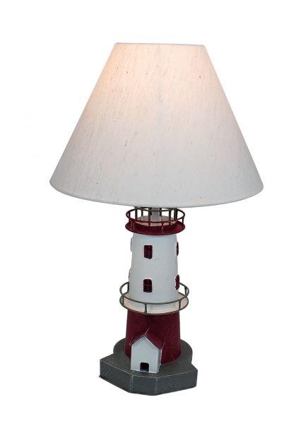 lampe leuchtturm rot wei maritime deko online bei. Black Bedroom Furniture Sets. Home Design Ideas