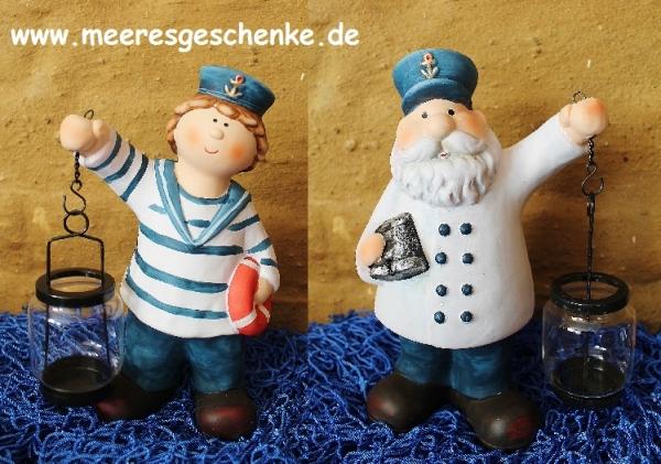 Kapitän und sein Matrose als Teelichthalter