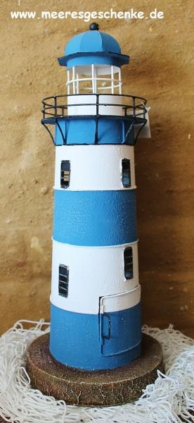 Teelicht-Leuchtturm Metall ca. 44 cm