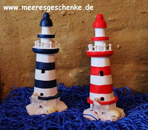 Leuchtturm ca. 20 cm rot/weiss