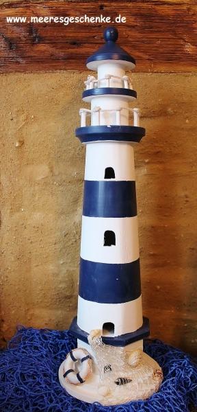 Leuchtturm ca. 55 cm rot/weiss