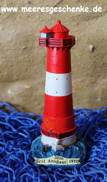 Deko Leuchtturm Arngast ca. 15 cm