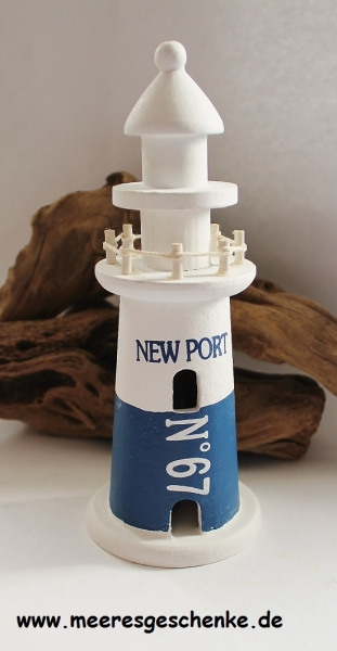 Deko-Leuchtturm New Port ca. 20 cm