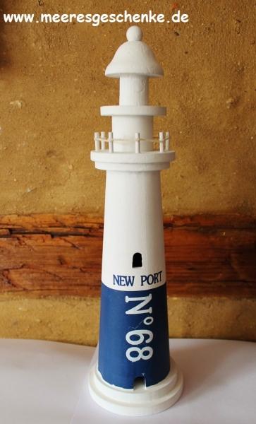Deko-Leuchtturm New Port ca. 40 cm