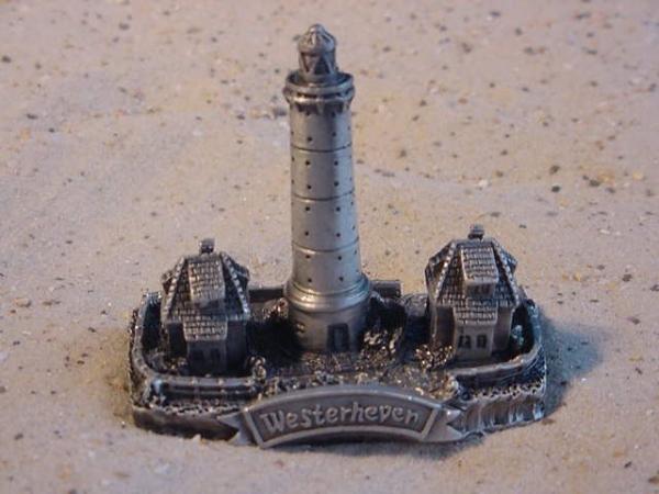 Zinn Leuchtturm Westerhever ca. 6 cm