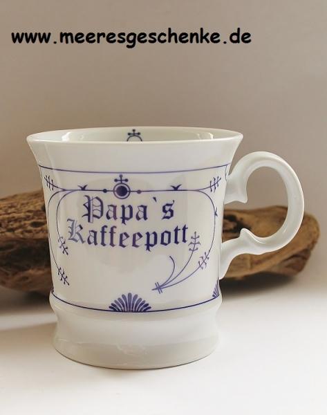 Indisch Blau Herrenbecher/ Kapitänsbecher Papas Kaffeepott