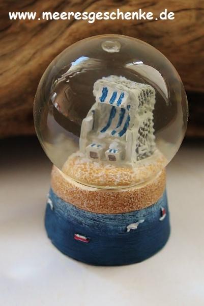 Schneekugel Strandkorb 6 cm