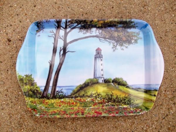 Tablett Leuchtturm ca. 21 x 14 cm