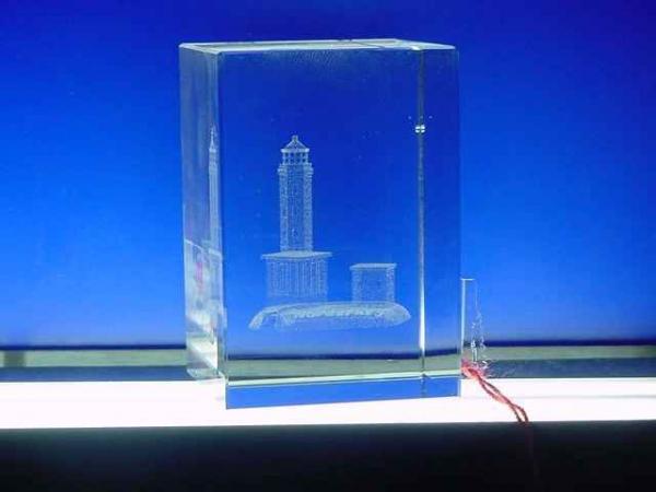 Glasturm Norderney ca. 4x6 cm