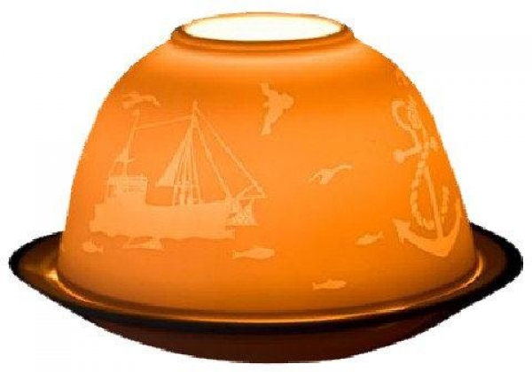 Teelichtkuppel Magic Ambient Light Motiv Kutter & Anker
