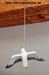 Hängende fliegende Möwe ca. 20 x 13 x 3 cm Maritime Deko