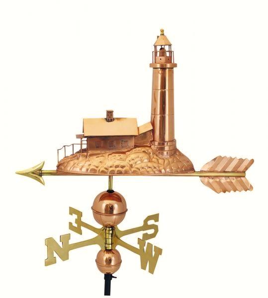 Dekorative wetterfahne als leuchtturm 40 x 40 cm maritime deko online bei - Maritime gartendeko ...