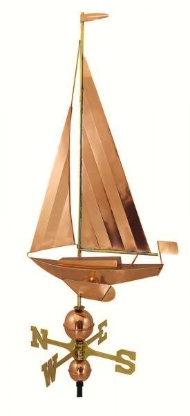 Dekorative wetterfahne als segelyacht 54 x 95 cm maritime deko online bei - Maritime gartendeko ...