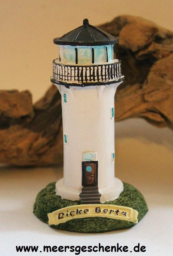 Maritime Deko Modell-Leuchtturm Cuxhaven ca 11 x Ø 5,5 cm Polystone