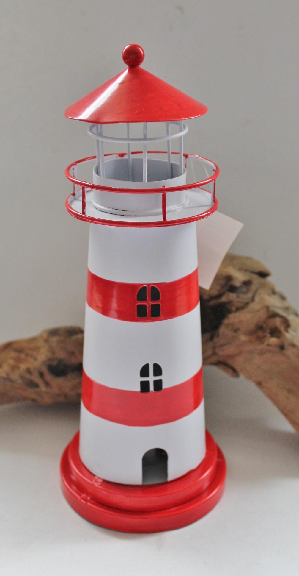 Deko metall leuchtturm ca 23 x 9 cm maritime deko for Deko metall