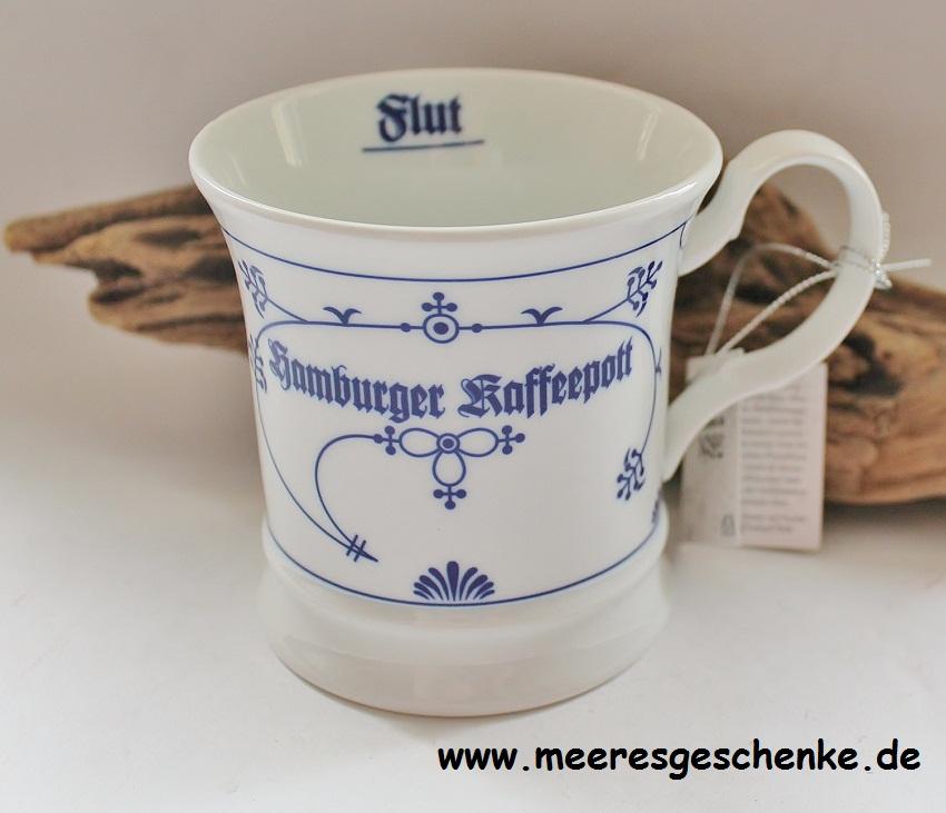 Indisch Blau Herrenbecher / Kapitänsbecher Hamburger Kaffeepott JL ...